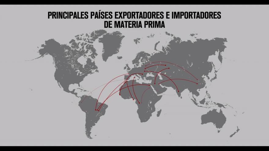 Mapa de la trata de mujeres en el documental 'Chicas Nuevas 24 Horas'