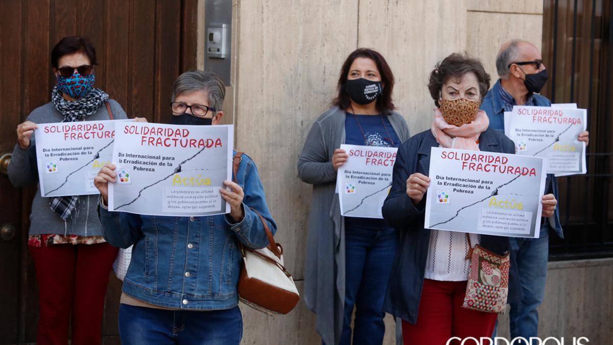 Protesta contra la pobreza en Córdoba