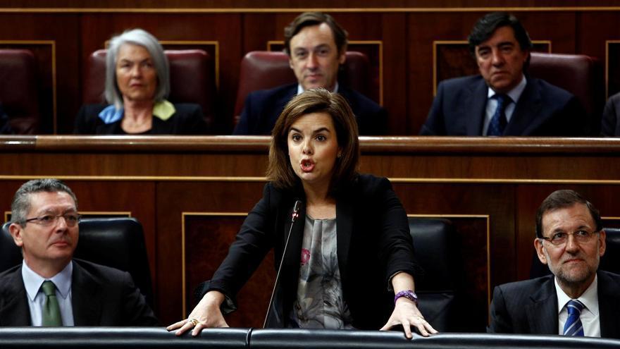 """Santamaría advierte a la Generalitat de que debe """"respetar"""" la decisión del TC porque """"nadie"""" está por encima de la ley"""