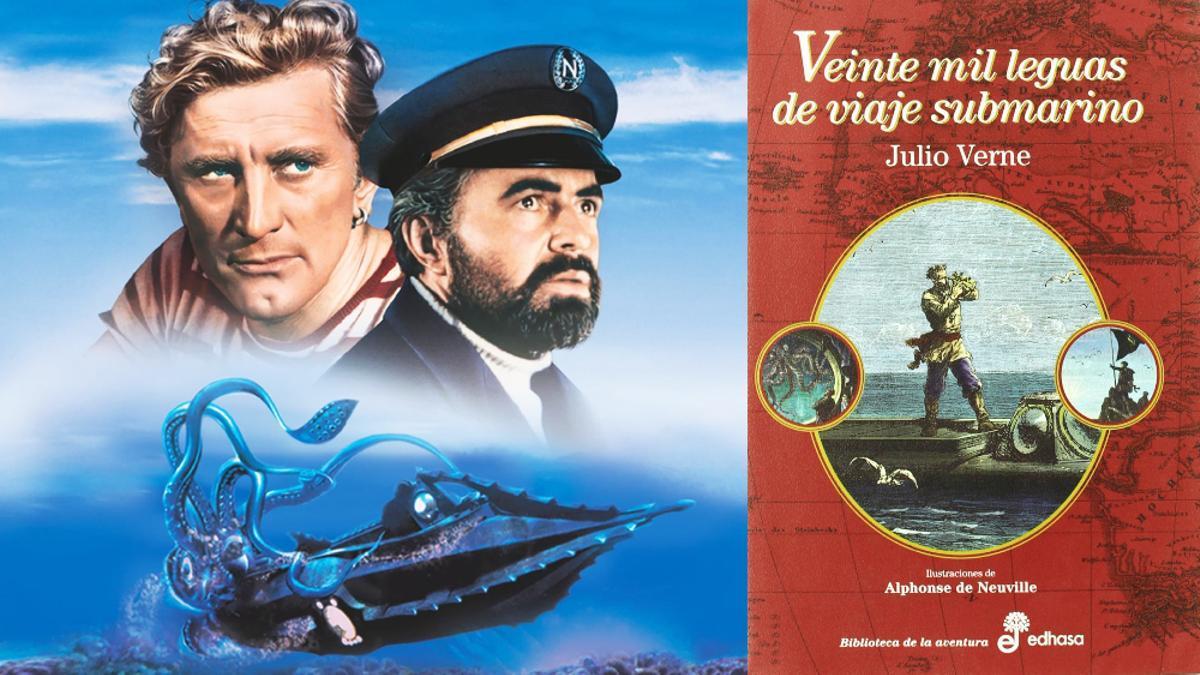 Fotograma y portada de '20.000 leguas de viaje submarino'