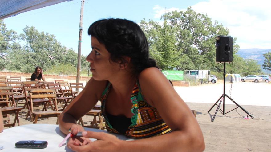 Teresa Rodríguez, durante la entrevista. / Foto cedida por la organización