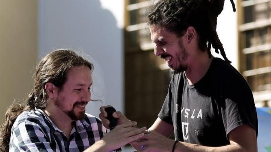 Pablo Iglesias y Alberto Rodríguez, en una imagen de archivo