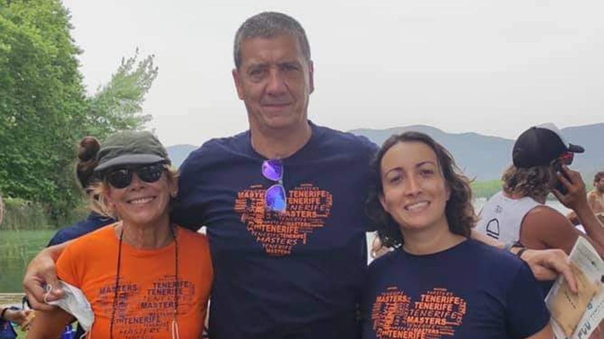 Nadadores del Tenerife Master que comptieron en Gerona.