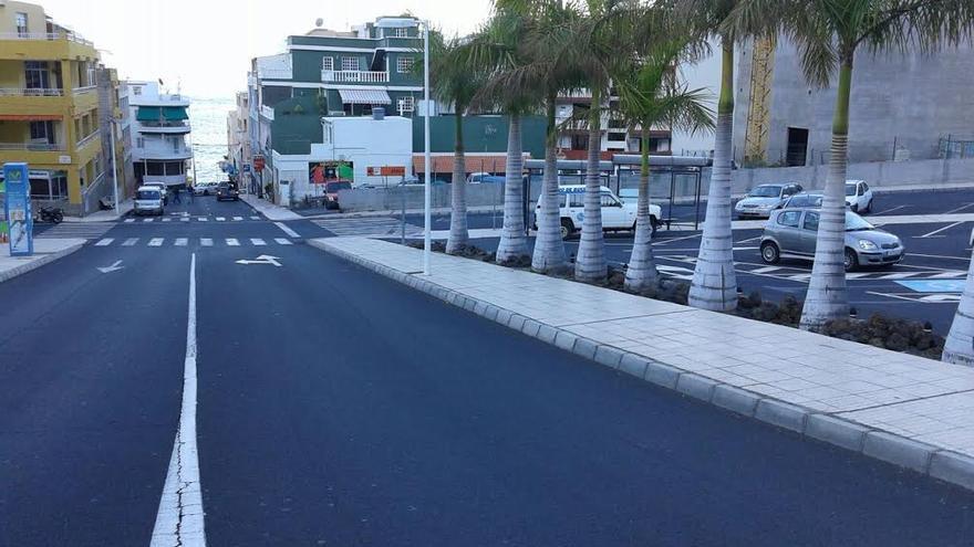 En la imagen, núcleo turístico de Puerto de Naos.