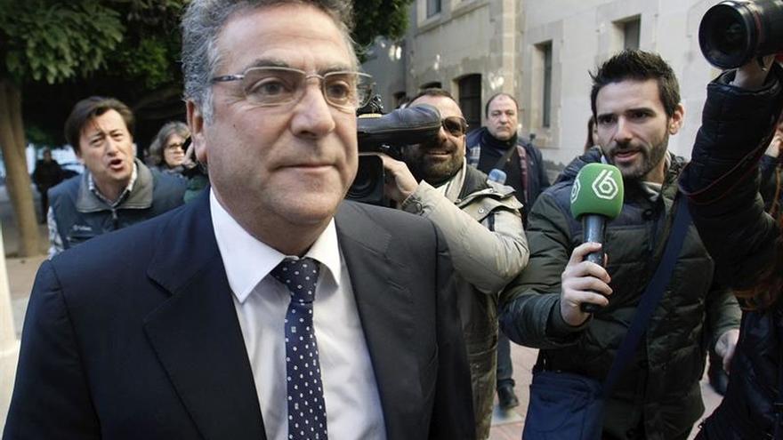 El empresario Enrique Ortiz, tras declarar por una de sus causas con la justicia.