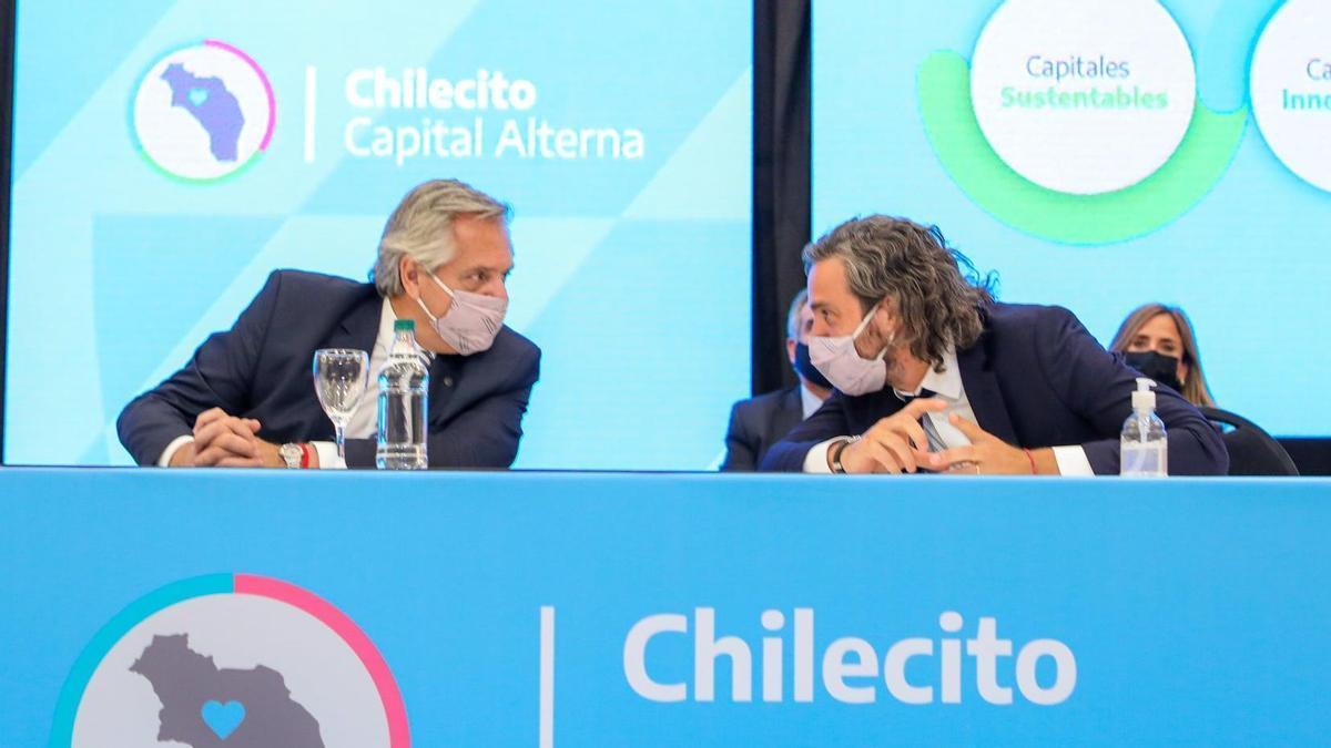Alberto Fernández y Santiago Cafiero.