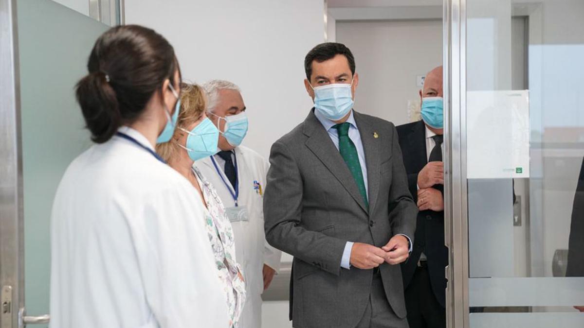 El presidente de la Junta, en una visita a Pozoblanco.
