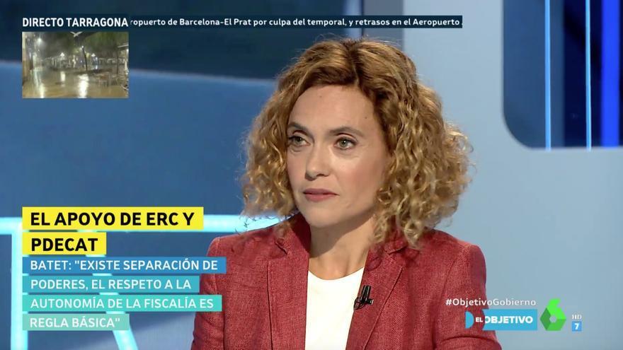 Meritxell Batet, ministra de Política Territorial y Función Pública, en 'El Objetivo'