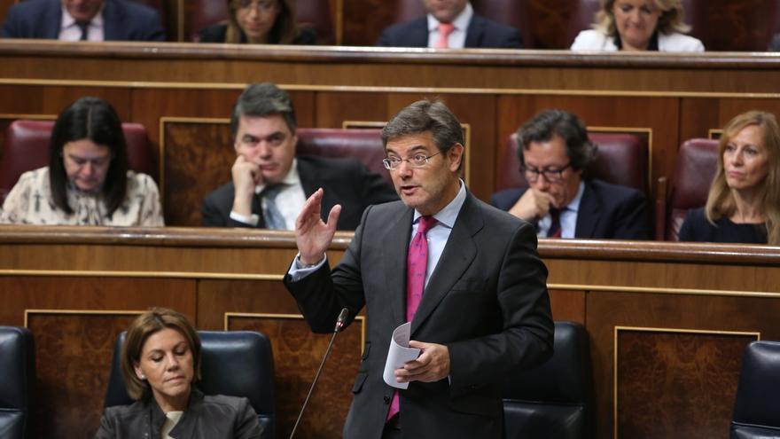 """Catalá dice, tras las críticas de Aznar, que el diálogo con Cataluña es """"uno de los objetivos estratégicos del Gobierno"""""""