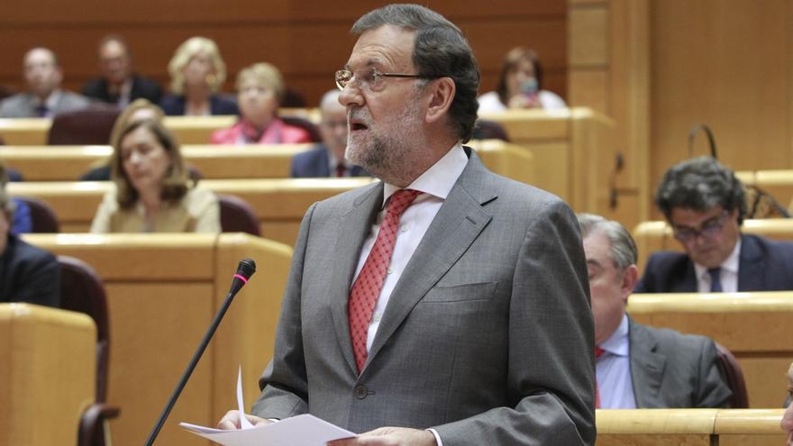 Rajoy durante su intervención en el Pleno del Senado/ Efe