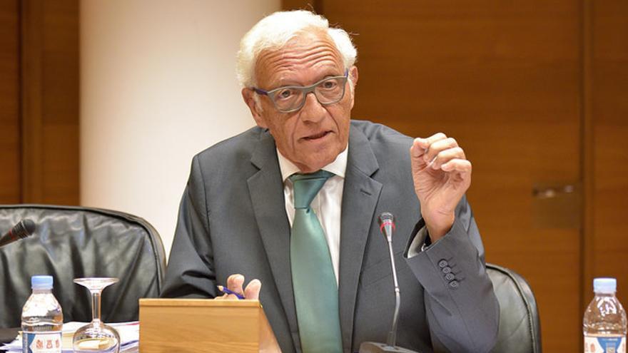 Rafael Vicente Queralt, Síndic Major de Comptes, comparece en la comisión de investigación de Ciegsa