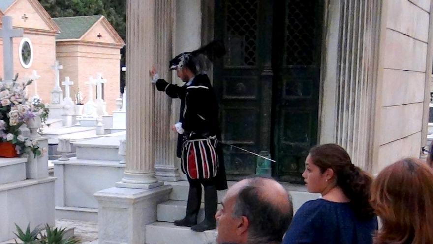Representación de Don Juan Tenorio en el cementerio de San Fernando, en Sevilla.