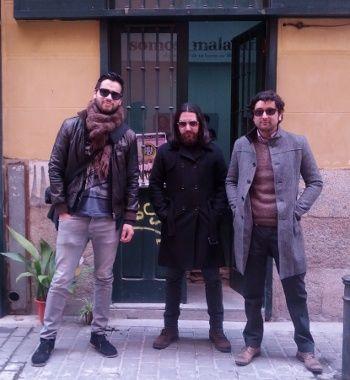Santiago, Saúl y Diego, tres de los componentes del grupo | Foto: Somos Malasaña
