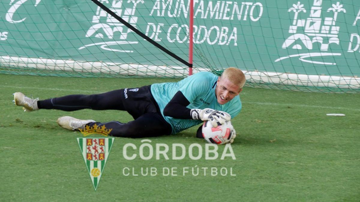 Carlos Marín, en su primer entrenamiento con el Córdoba