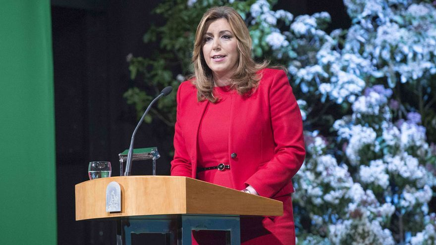 Susana Díaz en el 28F de 2016.