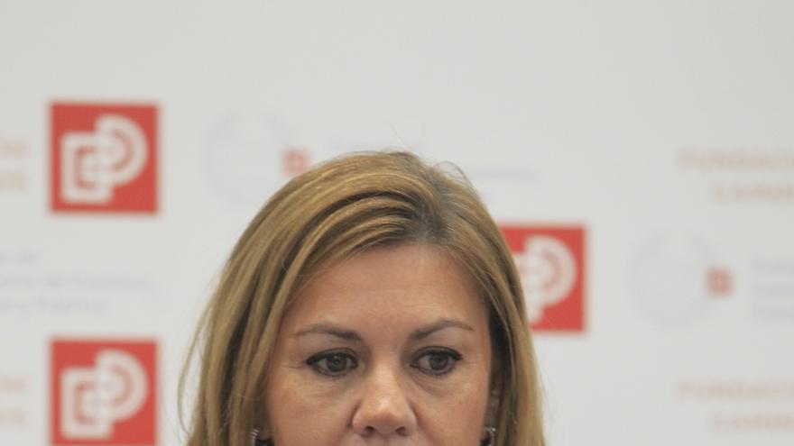 """Cospedal pide a sus diputados volcarse en explicar la gestión de Rajoy y dejar claro que frente al PP """"está el abismo"""""""