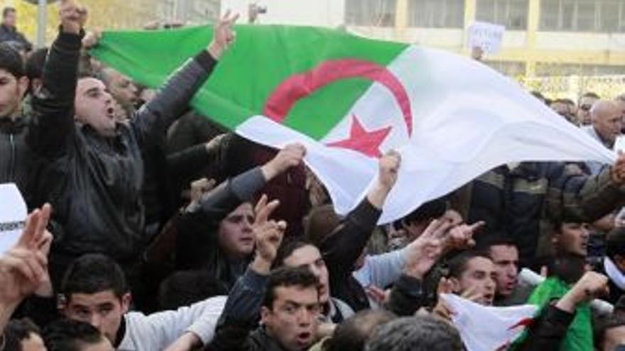 Protestas en Argelia. (EUROPA PRESS)
