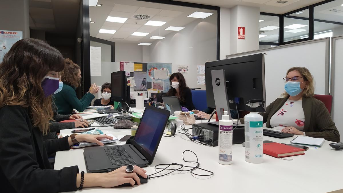 Trabajadoras del Equipo de Atención Integral a Víctimas de Violencia de Género del área de Pamplona y la zona norte de Navarra