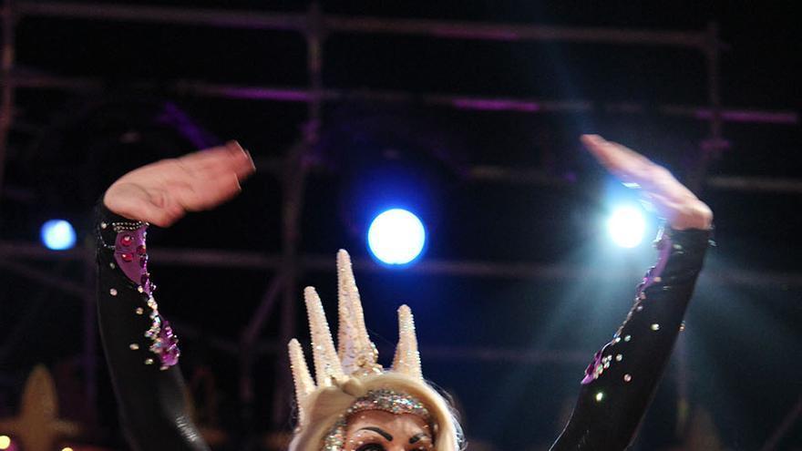 Drag Eiko, segundo clasificado de la Gala Drag Queen de las 'Mil y una noches'.
