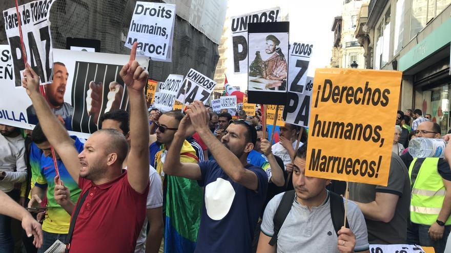 Mnaifestación por los derechos del Rif en octubre de este año en Madrid.