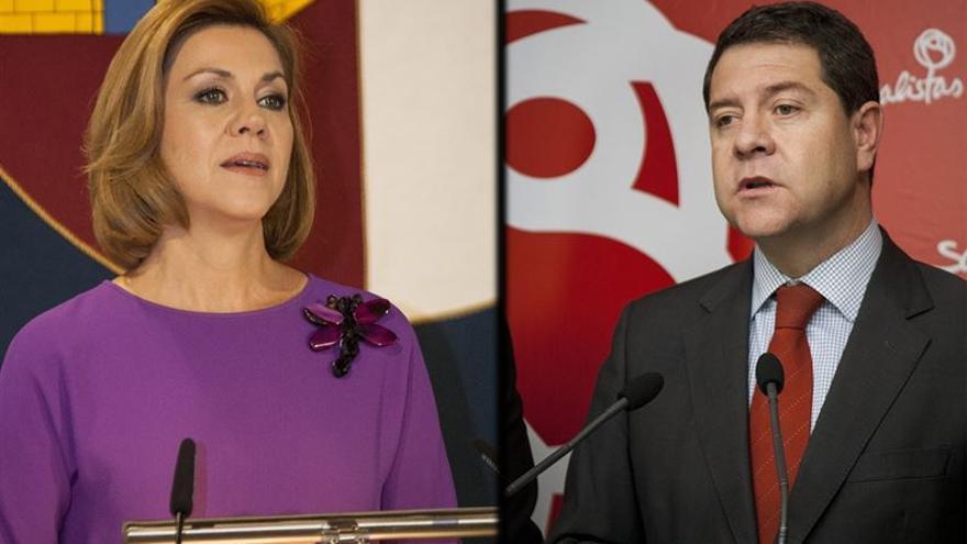 María Dolores de Cospedal y Emiliano García-Page / Foto: EUROPA PRESS