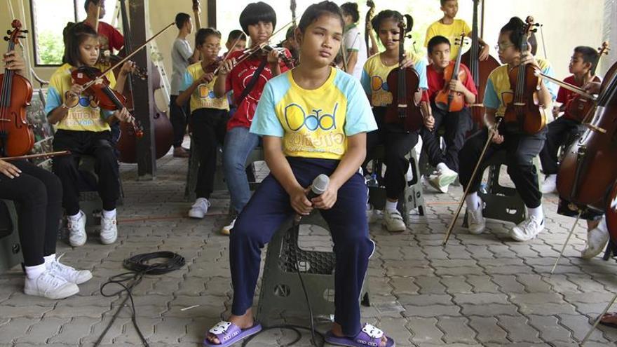 La orquesta tailandesa de los niños ciegos