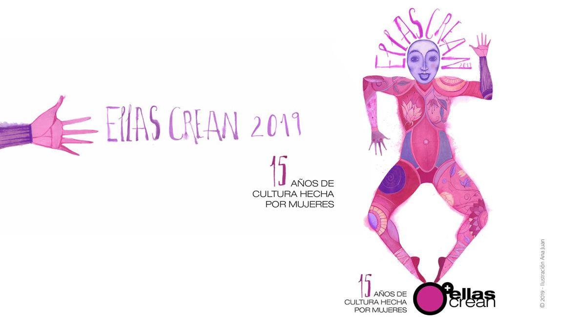 Cartel de Ana Juan para Ellas Crean 2019 | ELLAS CREAN