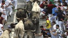 Miura cierra los Sanfermines con un encierro rápido y peligro en la plaza
