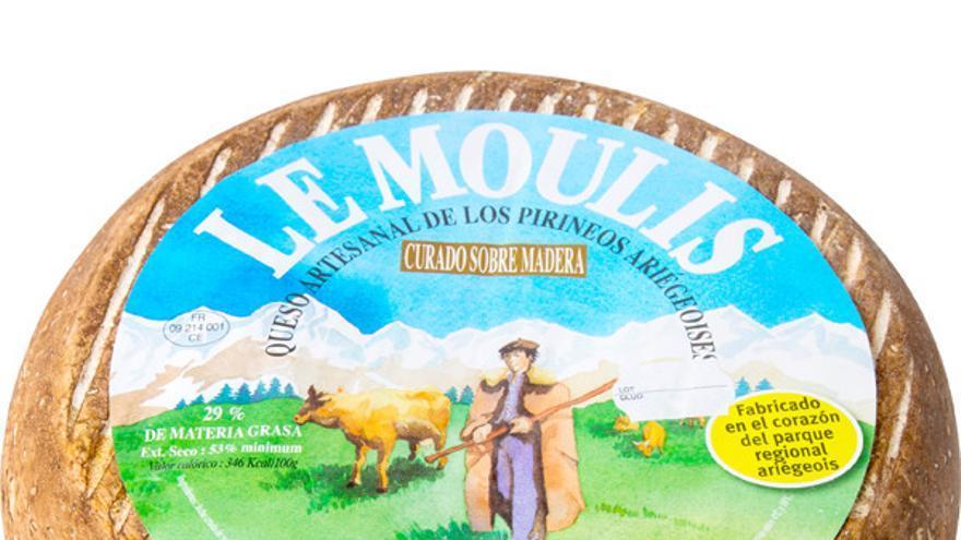 Un queso de la marca Le Moulis