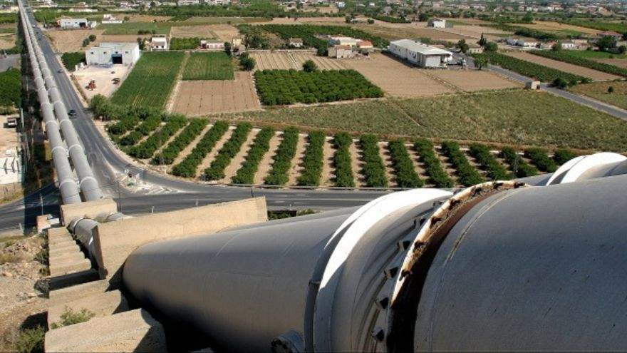 Una imagen de archivo del travase Tajo-Segura. /EFE