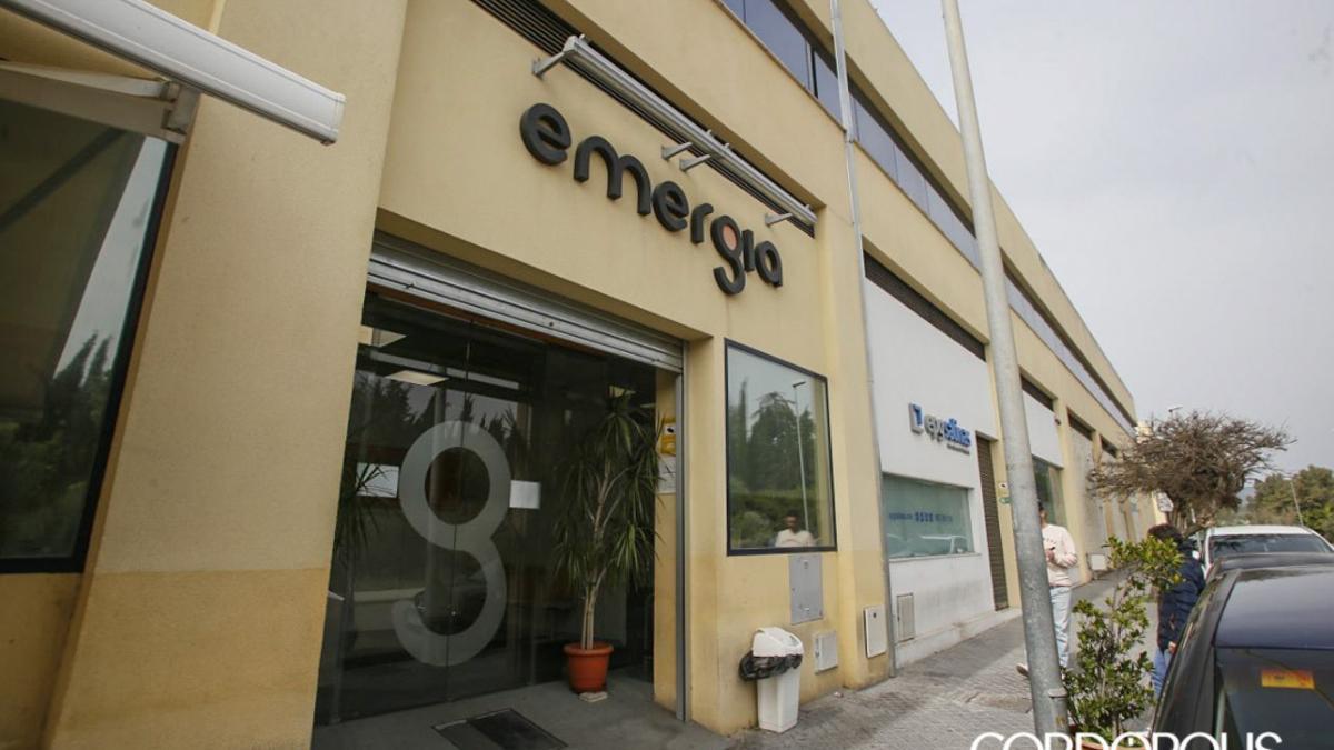 Entrada a Emergia en Córdoba.