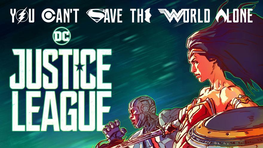 Póster de la versión Imax de 'Justice League'