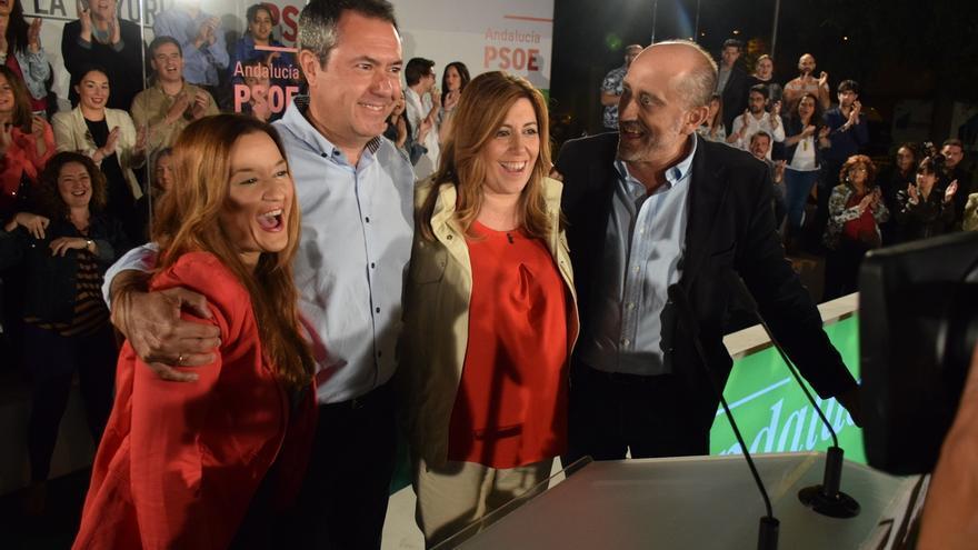 Díaz, Moreno y Marín cierran este viernes la campaña en Sevilla y Rodríguez, en Algeciras (Cádiz)