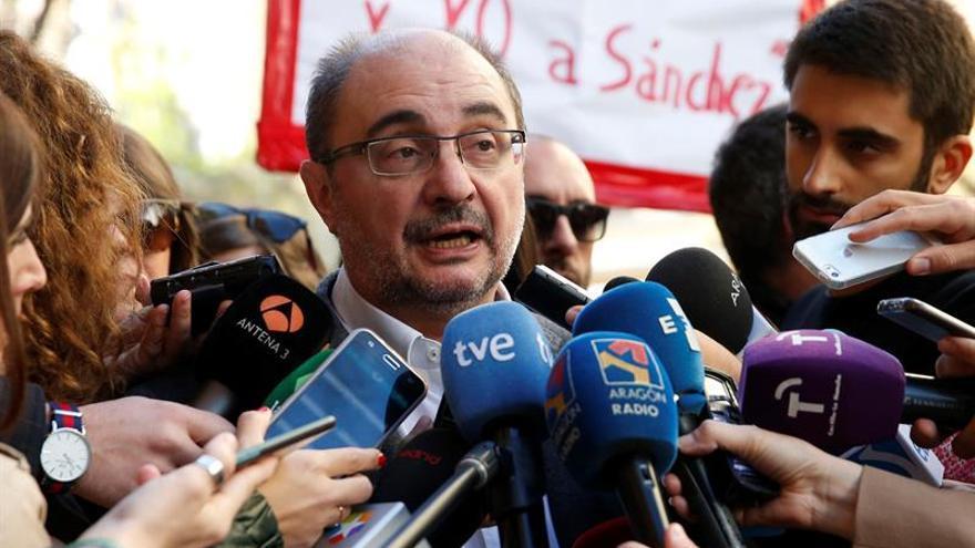 Lambán vaticina que Sánchez no aceptará la propuesta de coalición de Puig