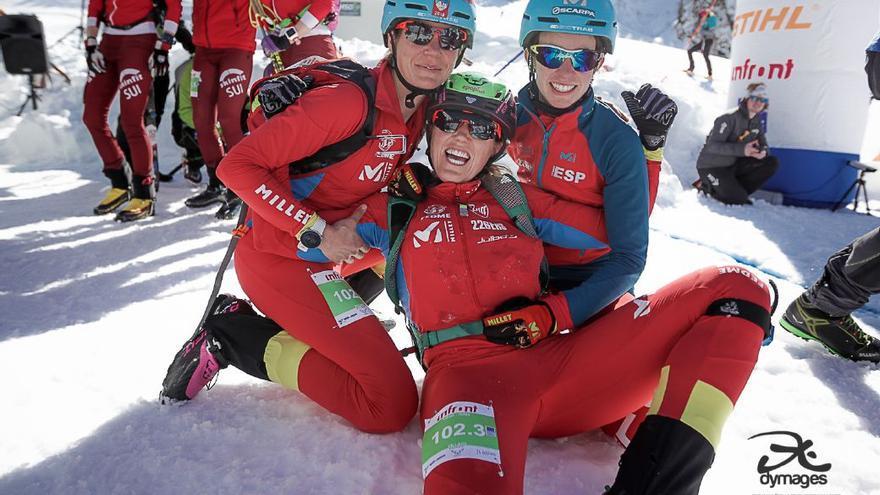 Claudia Galicia, Marta García y Nahia Quincoces.