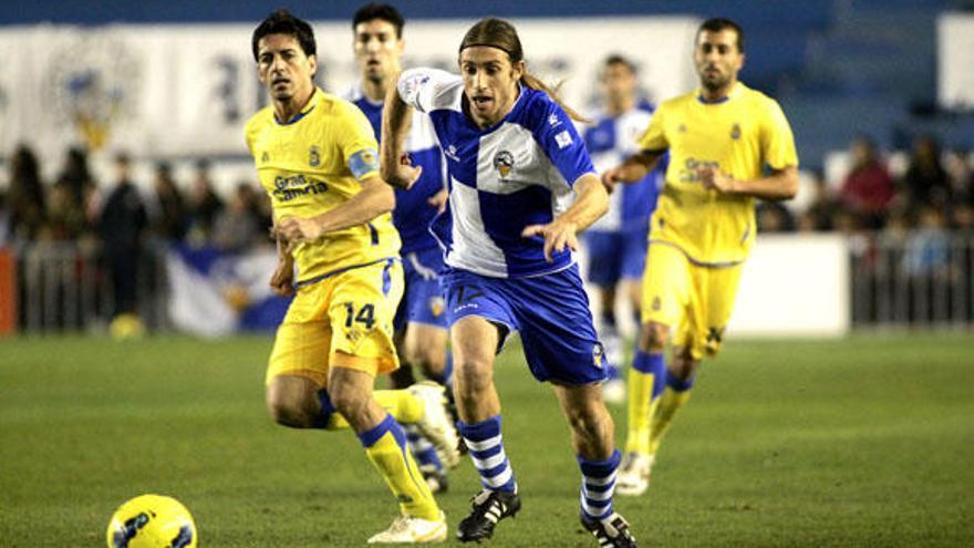 Imagen del partido de la primera vuelta entre el Sabadell y la UD (ACFI PRESS).