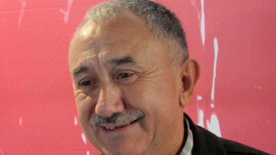 Álvarez (UGT) dice que los españoles quieren un gobierno que aúne el programa de varios partidos