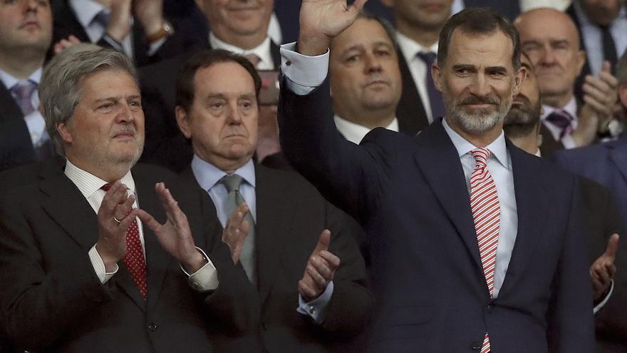 El rey Felipe en el Wanda Metropolitano