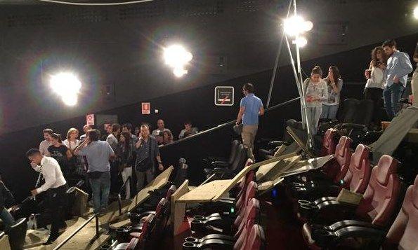 Patio de butacas del cine Proyecciones tras el desplome |@NAXETE80
