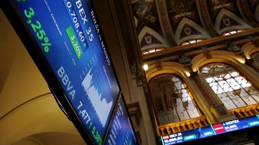 La Bolsa española mantiene las fuertes ganancias a mediodía y sube un 3,05 por ciento