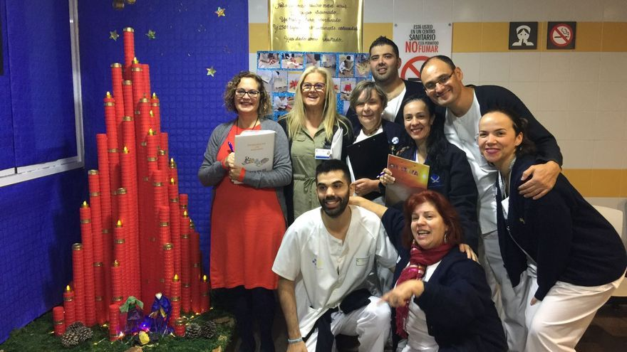 El primer premio del II Concurso de Árboles de Navidad ha sido para el Servicio de Hemodiálisis.