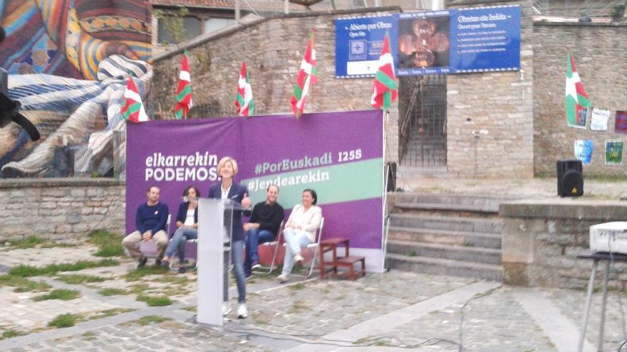 """Zabala (Podemos) se compromete a abordar """"con decisión"""" los """"dolores"""" de la sociedad vasca como el empleo"""