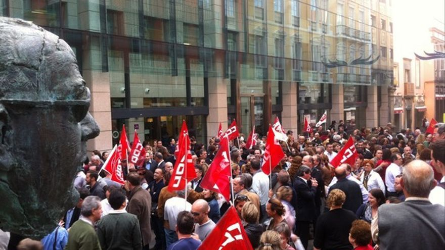 Protesta de empleados de Bankia en LPGC #7