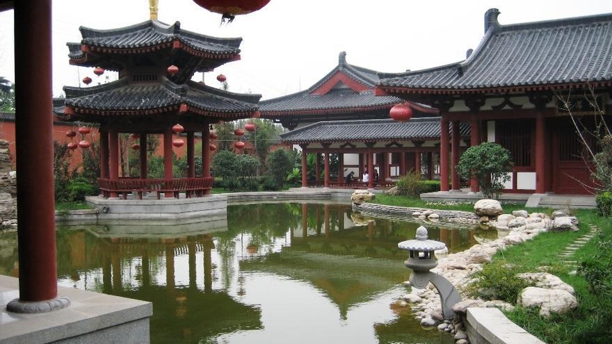 Complejo de palacios en Huaqing. Macchi