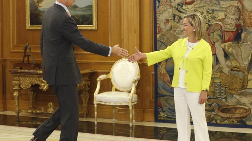 El Rey recibe en el Palacio de la Zarzuela a la diputada de Coalición Canaria (CC) Ana Oramas