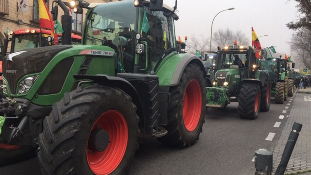 Tractores por las calles de Toledo