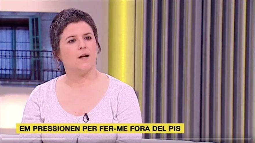 Gala Pin durante la intervención en Els Matins de TV3