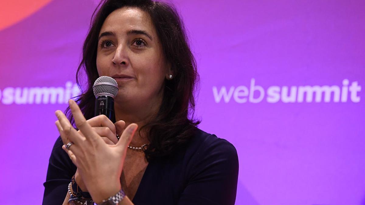 Susana Quintana-Plaza, durante el Web Summit celebrado en Lisboa en noviembre de 2017.