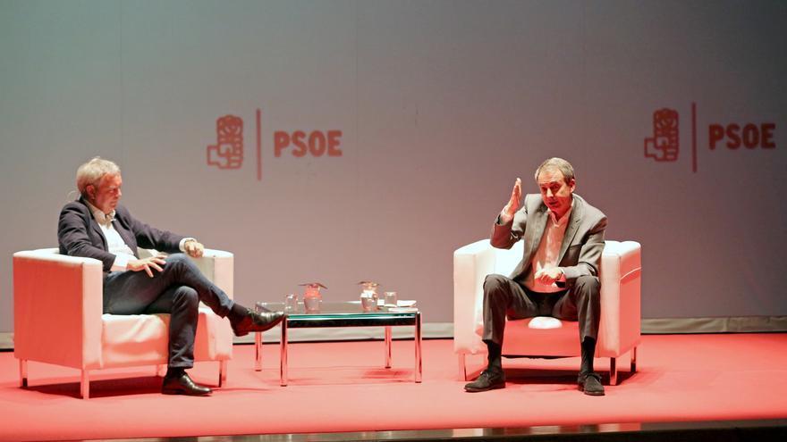 El diputado Sebastián Franquis y el expresidente del Gobierno José Luis Rodríguez Zapatero