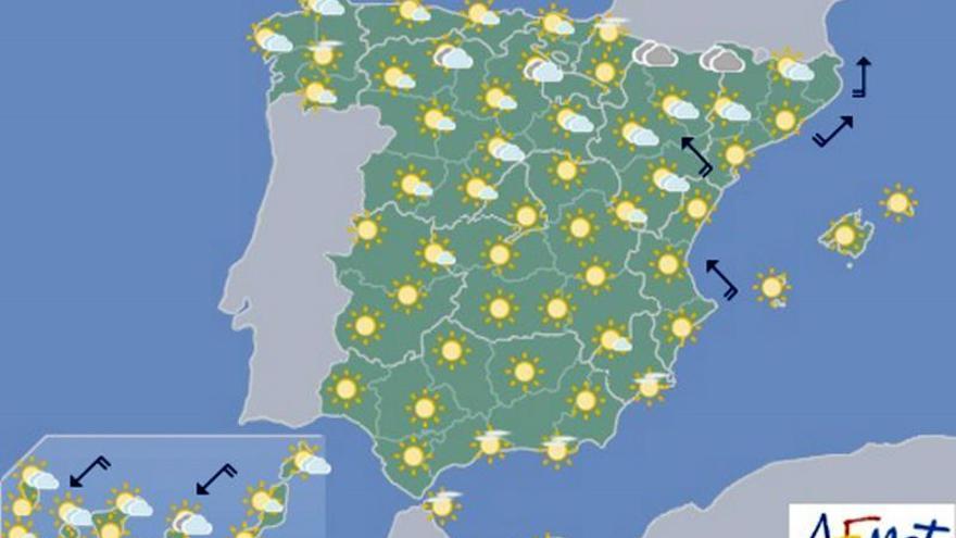 Mañana las temperaturas subirán en el norte, pero bajarán en Galicia y el sur